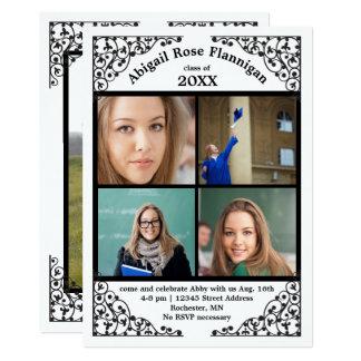 Foto-Collagen-Spitze - Abschluss-Mitteilung 12,7 X 17,8 Cm Einladungskarte