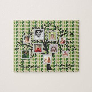 Foto-Collagen-Stammbaum-Schablone personalisierte Puzzle
