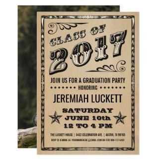 Foto der Abschluss-Party Einladungs-| Kraftpapier Karte