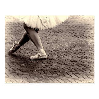 Foto der Ballett-Pantoffel Postkarte