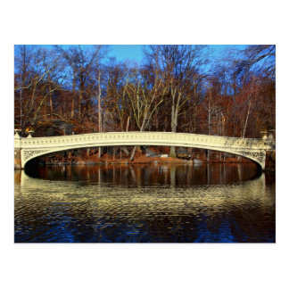 Foto der Bogen-Brücke in Central Park, New York Postkarte