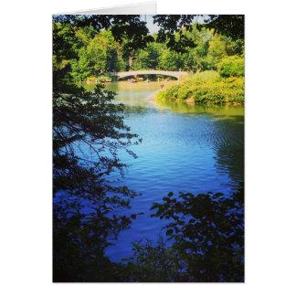 Foto der Central Park See-Bogen-Brücken-NYC New Karte