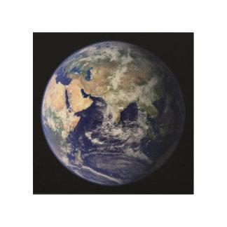 Foto der Erde Hemisphäre Osten Holzleinwände