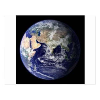 Foto der Erde - Hemisphäre Osten Postkarte