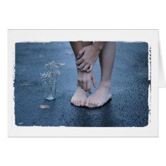 Foto des Mädchens in der bloße Füße Gruß-Karte Karte