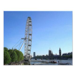 Foto-Druck mit London-Augen-Riesenrad Fotodruck