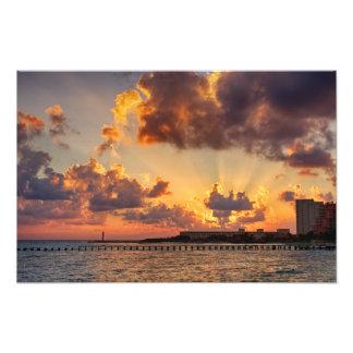 Foto-Druck - Sonnenaufgang in Cancun, Mexiko Fotodruck