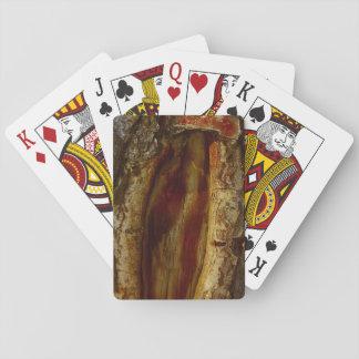Foto einer Höhle in einem Baum Spielkarten
