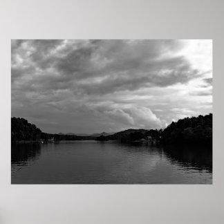 Foto einer See-Landschaft in Nord-Carolina Poster