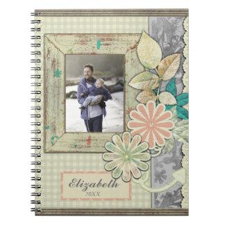 Foto-Einklebebuch-Seiten-Entwurf Notizblock