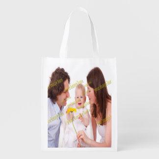 Foto-Familien-Budget-Schablone Wiederverwendbare Einkaufstasche
