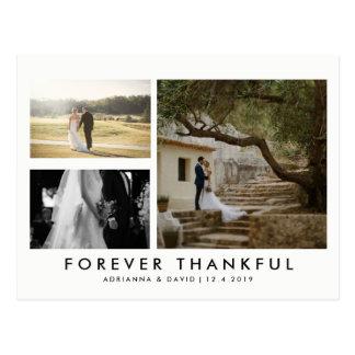 Foto-für immer dankbarer Minimalist der Paar-drei Postkarte