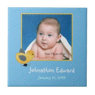 Foto-Geburt Annoucement niedliches Baby-Küken Keramikfliese