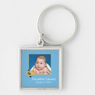 Foto-Geburt Annoucement niedliches Baby-Küken Schlüsselanhänger