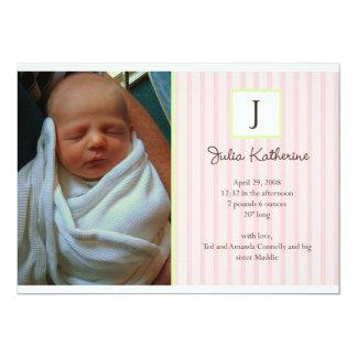 Foto-Geburts-Mitteilungen 12,7 X 17,8 Cm Einladungskarte