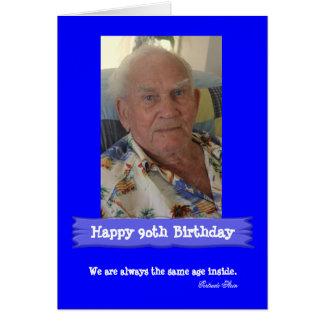 Foto-Geburtstags-kundengerechtes helles Blau Karte
