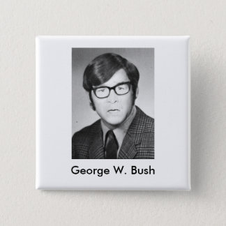 Foto Georges W. Bush Yearbook Quadratischer Button 5,1 Cm