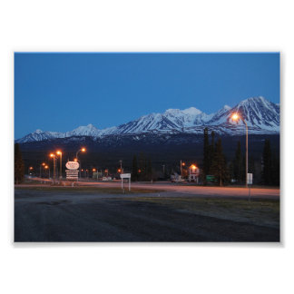 Foto Haines Junction blaue Stunde