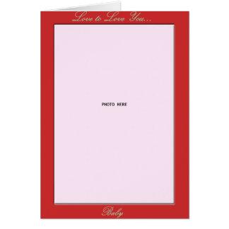 Foto-Halter des Valentines Tages Karte