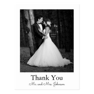 Foto-Hochzeit danken Ihnen Postkarte