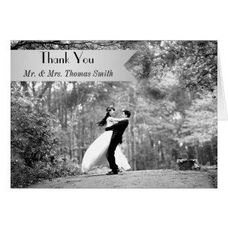 Foto-Hochzeit danken Ihnen zu kardieren Grußkarte