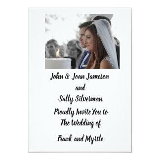 Foto-Hochzeits-Einladung Einladung