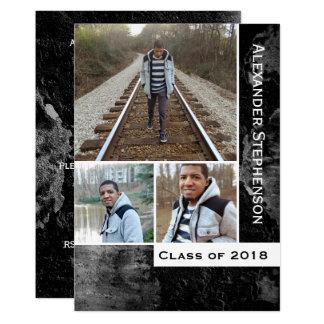 Foto-Jungen-Typ-Abschluss 2018 des Grunge-Beton-3 Karte