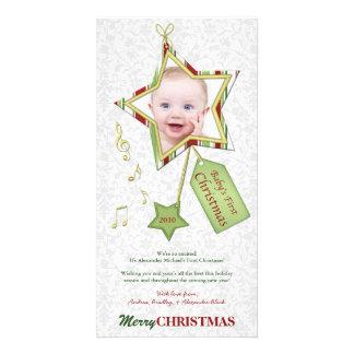 Foto-Karte des einzigartigen Stern-Babys erste Photokarten