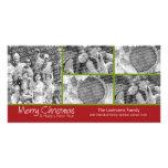 Foto-Karte: Frohe Weihnachten mit der Collage mit  Photo Grußkarte