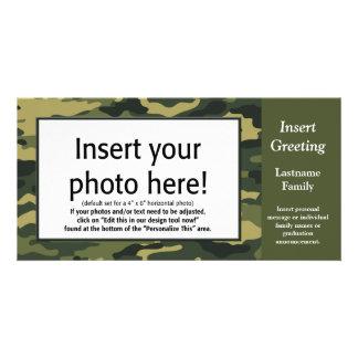 Foto-Karte - grüne Camouflage (Feiertag, Familie, Karte