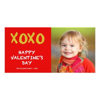 Foto-Karte Valentines des GoldXOXO | Tages Karte