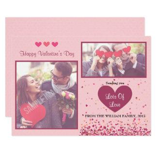 Foto-Karten des Valentines Tages Karte
