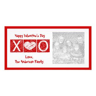 Foto-Karten XOXO Valentines Tages Individuelle Photo Karte