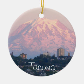 Foto-Keramik-Verzierung Tacomas, Washington Keramik Ornament
