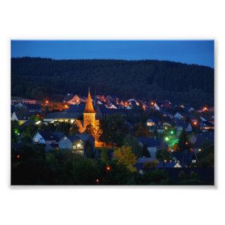 Foto Kirche in Netphen-Deuz zur blauen Stunde