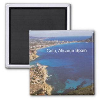 Foto-Kühlschrankmagnet Calp Calpe Alicante Spanien Quadratischer Magnet