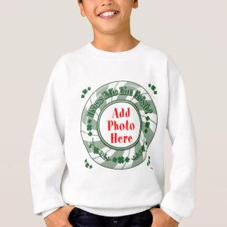 FOTO küssen mich, den ich - grüner gestreifter Sweatshirt