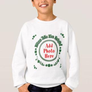 FOTO küssen mich, den ich - grüner Kreis irisch Sweatshirt