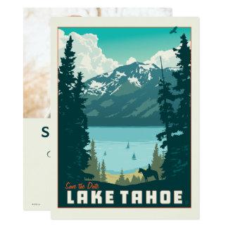 Foto Lake Tahoe | Save the Date - 14 X 19,5 Cm Einladungskarte