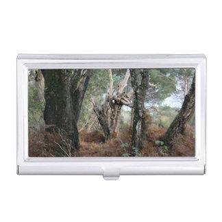 Foto Landschaft der Korkeichen in Doñana Visitenkarten Etui