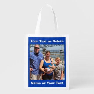 Foto-Lebensmittelgeschäft-Tasche, Ihre 2 FOTOS und Wiederverwendbare Einkaufstasche