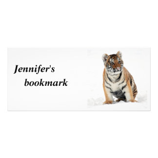 Foto-Name-Lesezeichen des Tigerjungen schönes Werbekarte