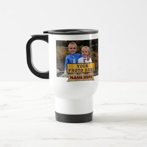 FOTO-NAMEN personalisierte Foto-Kaffee-Reise-Tasse