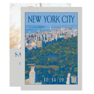 Foto New York City | Save the Date - 14 X 19,5 Cm Einladungskarte