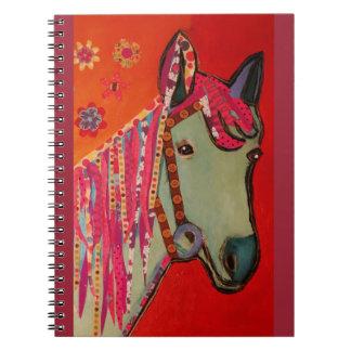 Foto-Notizbuch mit coolem Pferd Spiralblock
