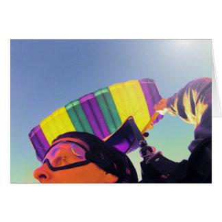 Foto perfekter Skydiver Grußkarten