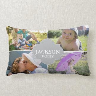 Foto Pillows, 4 Collagen-Fotos mit Familiennamen Lendenkissen
