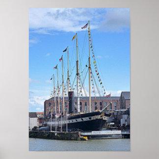 """Foto-Plakat """"die SS Großbritannien"""", Bristol Poster"""