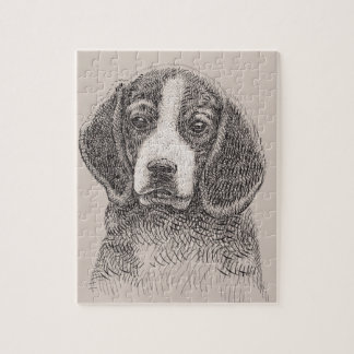 Foto-Puzzlespiel der Hundeskizze-8x10 mit Puzzle