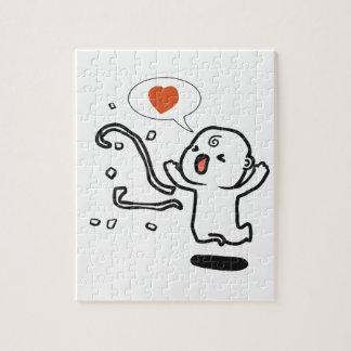 Foto-Puzzlespiel der Liebe-Feier-8x10 mit Puzzle